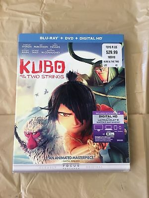 Factory Sealed  Kubo and the Two Strings (Blu-ray/DVD) digital Free Shipping