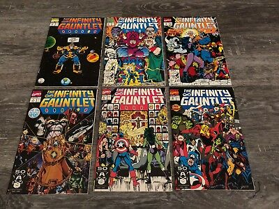 Infinity Gauntlet #1-6 NM Marvel 1991White Pages Pristine Condition see pics