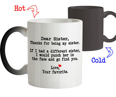 Dear Sister Thanks For Being My Funny Birthday Gift Coffee Mug