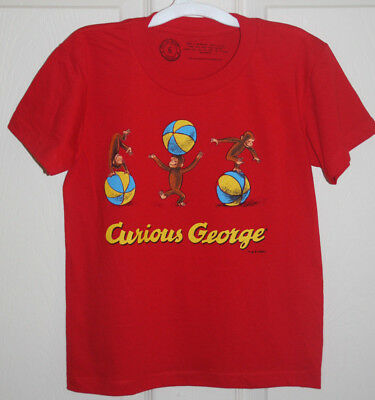 New Out Of Print Kids Tee Shirt Curious George Books Worn Well Sz 2 Sz 6