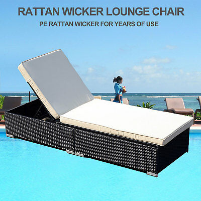 Surprising Lounge Chair Rattan Chaise Wicker Adjustable Pool Patio Alphanode Cool Chair Designs And Ideas Alphanodeonline