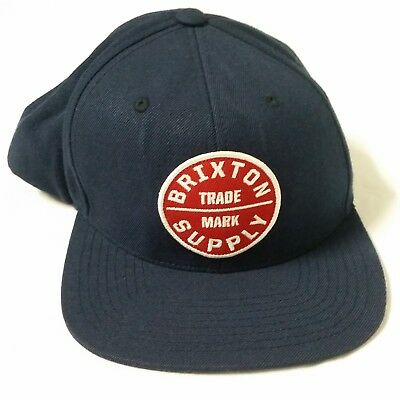 38125cab802ca ... good brixton supply trade mark cap hat adjustable snapback navy blue  red white 5bad1 614cb