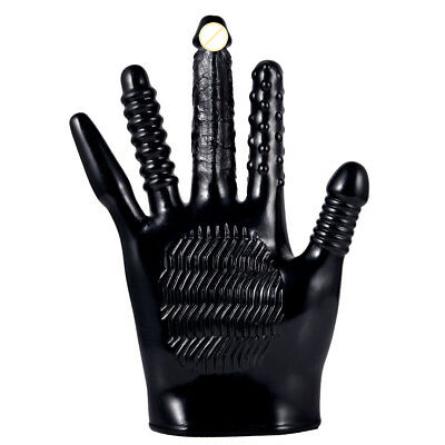 Black New Sensual Love Spike Massage Rave Glove Party flirting Tools with Motor