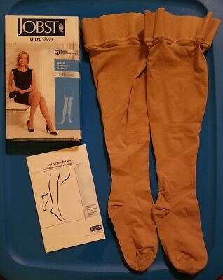 Jobst Ultra Sheer Medical Compression Size Medium Thigh, 15-20 mmHg