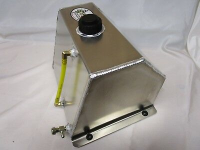8 QT Aluminum Sprint Fuel Tank Go Kart Snowmobile Flat Mount Racing Parts