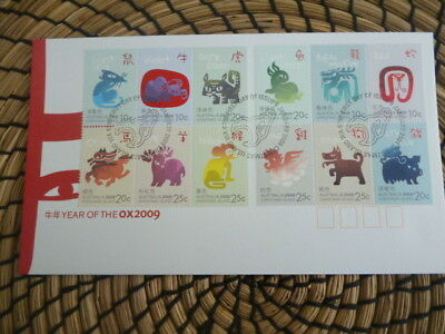 Christmas Island fdc 2009 Year of the Ox  mini sheet