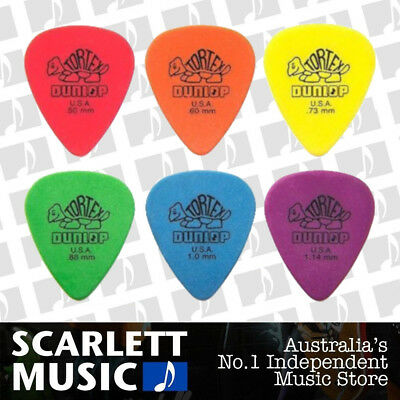 6 x Jim Dunlop Tortex Standard Mixed Gauges Guitar Picks *NEW* Plectrums, Colour
