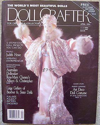 DOLL CRAFTER Magazine Porcelain Dolls & Clothes APRIL 1991 Incl Pattern Sheet