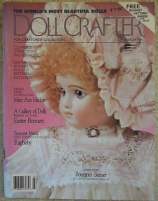 DOLL CRAFTER Magazine Porcelain Dolls & Clothes MARCH 1991 Incl Patterns
