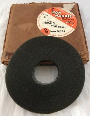 "Rare Ron Harris 16mm Cine Film Movie ""Husky Parade"" Dog Training 1949 B & W"