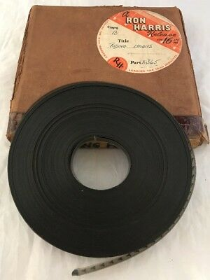 "Rare Ron Harris 16mm Cine Film Movie ""Riding Habits"" Horse Equestrian 1948 B & W"