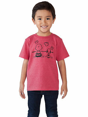 Baby Toddler Boys Peanuts Charlie Brown Snoopy T-Shirt Red