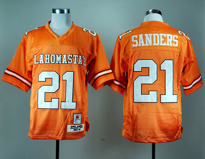 5be076d7953 Oklahoma State Cowboys Barry Sanders 21 College Football Throwback Jersey  Orange