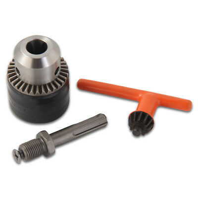 "KSEIBI 291113 1/2"" Drill Chuck with SDS Plus Adapter and Grip Chuck Key, 3-Piece"