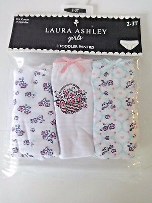Laura Ashley Toddler Girls Cotton Panties Size 2/3T