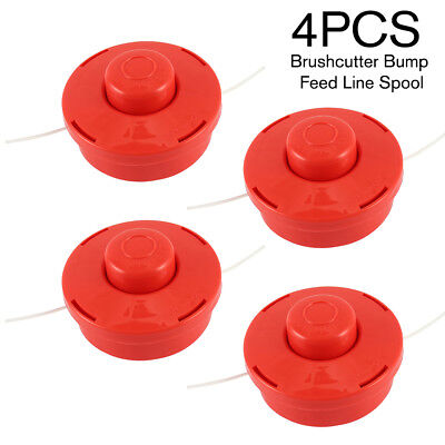 4X Universal Strimmer Brushcutter Bump Feed Line Spool Head Fits Brush Cutters