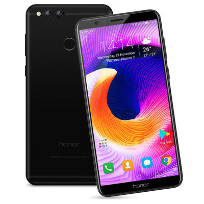 """HUAWEI Honor 7X 4GB+64GB 5.93"""" FHD+ 4G Cellulare Android 7.0 Octa-core 16MP OTA"""