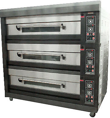 Amalfi Series Electric Three Deck Bakery Oven