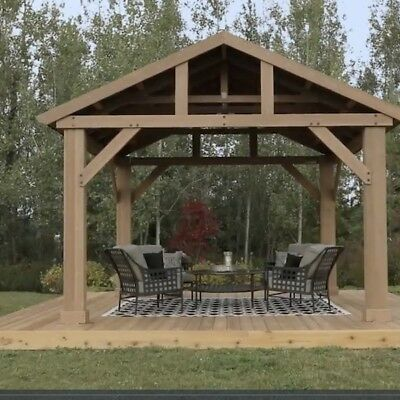 Admirable Solid Wood Outdoor Pavilion Gazebo Pagoda Tub Shelter Download Free Architecture Designs Licukmadebymaigaardcom
