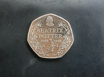 50p Coin - Beatrix Potter Anniversary - Fifty Pence - RARE - 2016- Circulated