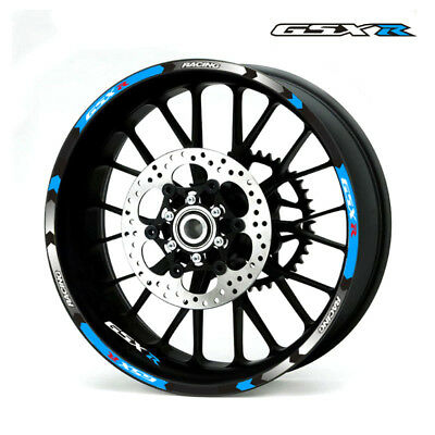 For Suzuki GSXR600 750 1000 1100 50 Custom Rim Stripes Wheel Decal Tape Sticker