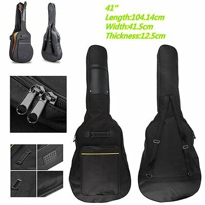 High Quality Padded Full Size Acoustic Classical Guitar Bag Case Cover Black SY
