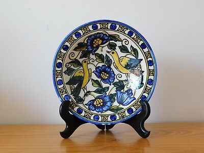 Vintage Spain Spanish Blue and White Hand Painted Faience Majolica Bowl