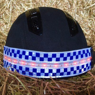 Equisafety Polite LED Rechargeable Hi-Vis Fashing Flourescent Hatband One Size
