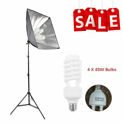 Photography Softbox Continuous Lighting Kit Photo Studio Set 2M Tripod Stand SY