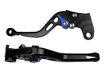 BLUE AERO SHORT MOTORCYCLE CLUTCH BRAKE LEVERS Aprilia RSV Mille/R 2004 - 2008