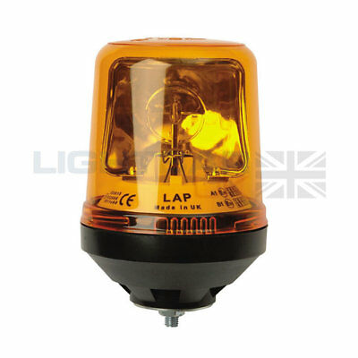 Single Bolt Mount Tractor Digger Emergency Rotating Flashing Amber Beacon R65