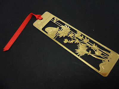 Japanese Themed Gold Coloured Metal Bookmark. New.