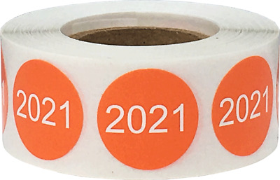 Circle Year Stickers, 3/4 Inch Round, 500 Labels on a Roll, 7 Choices