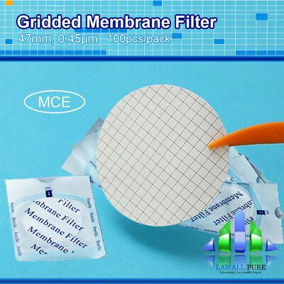 100Pcs/pack Sterile Mce Gridded Filter 0.45Μm Micron 47Mm Diameter Hydrophilic