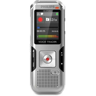 NEW Philips DVT4010/00 Voice Tracer Audio Recorder (DVT4010/00) 1.8-in 8GB