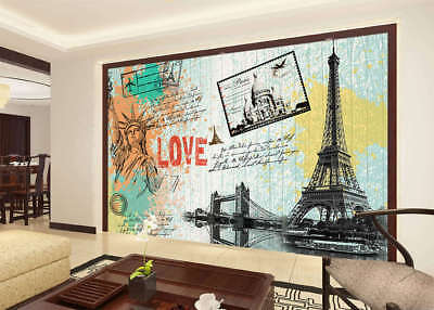Tall Tower Of Love 3D Full Wall Mural Photo Wallpaper Printing Home Kids Decor