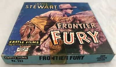 "Vintage Standard 8mm Cine Film Movie ""Frontier Fury"" James Stewart Western 1960s"