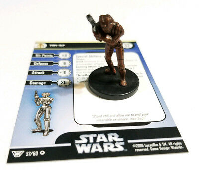 Star Wars Miniatures HK-47 57/60 Very Rare - Champions of the Force