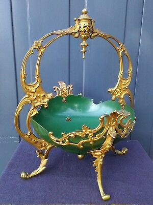 Magnificent Large Antique French 19th century Centerpiece Mounted Gilt Bronze