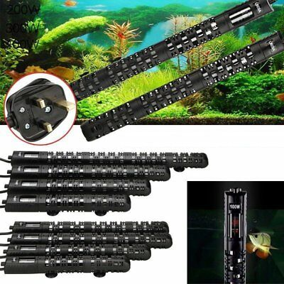 Digital Submersible Aquarium Water Heater Fish Tank Thermostat 50-500W Uk Plug