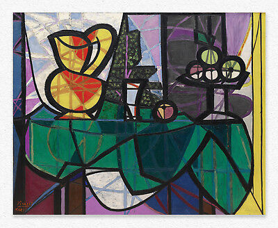 Pablo Picasso  Pitcher and Bowl of Fruit 80x100cm STAMPA TELA CANVAS PRINT TOILE