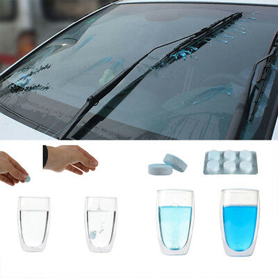 6Pcs Car Solid Wiper Fine Auto Car Window Cleaning Car Windshield Glass Cleaner