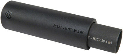Eclat Venom 4.8 Sleeved BMX Peg 14mm With Adaptor for 3/8 Axles: Black *One Peg*