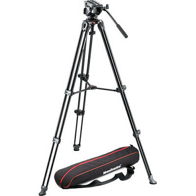 Manfrotto MVH500A Fluid Drag Video Head with MVT502AM Tripod and Carry Bag