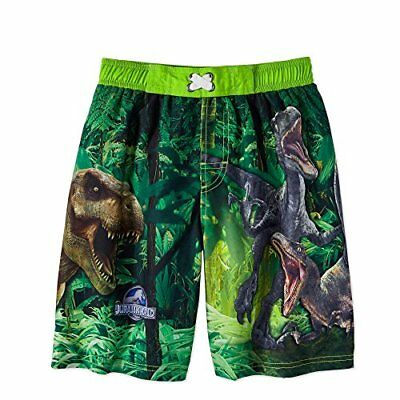 b7803ee88232f Jurassic World Boys Dinosaur Swim Trunks Shorts UV 50 Protection 100%  polyester