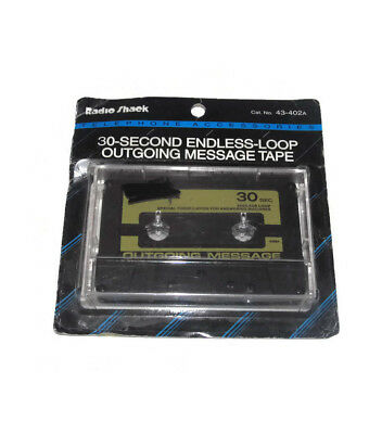 30 Second Endless-Loop Outgoing Message Tape 43-402A Radio Shack Brand