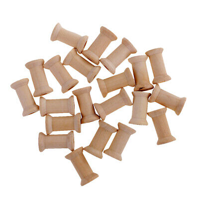 20PCS Wooden Empty Spools for Wire Thread Bobbins Cord Wire Coils BurlyWood