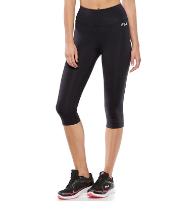 cdfabda4ed8a0 NWT Women's FILA SPORT High-Waisted Skimmer Capri Leggings Black size Large