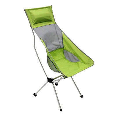 Outdoor Foldable Camping Chair Fishing Beach Pillow Lounger Green
