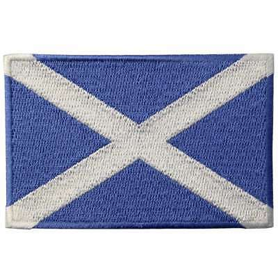 Embroidered Patches Iron Sew On transfers appliques Country Flag Scotland Flags